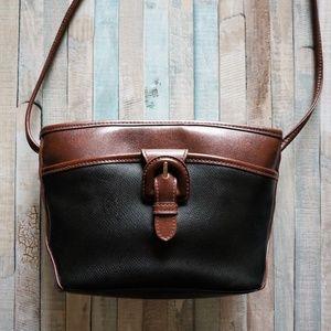 VTG Liz Black & Brown Small Crossbody Bucket Bag
